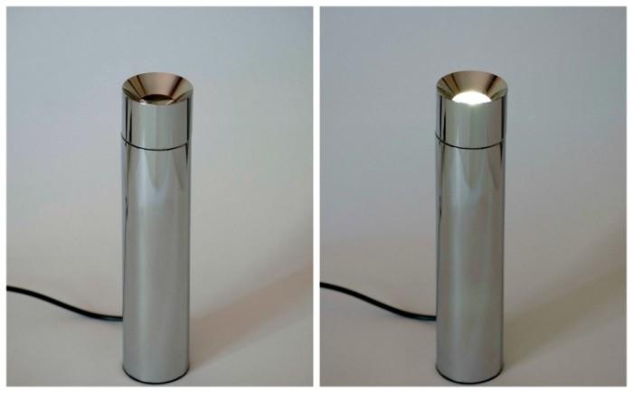John Lewis Ion Led Uplighter Table Light, Chrome