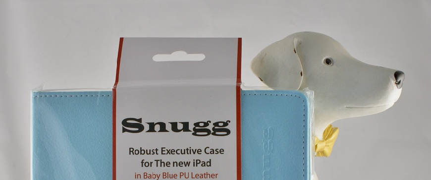 Snugg iPad 4 Executive Case Cover and Stand in Baby Blue Leather
