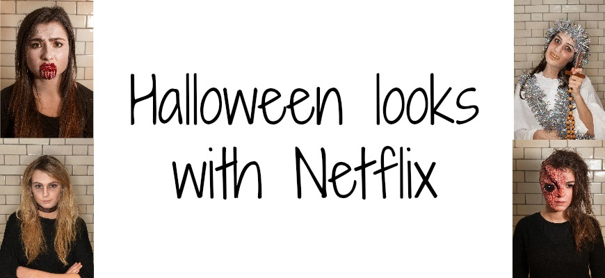 Halloween looks with netflix