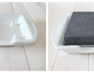 Steak Stone & Plate Set