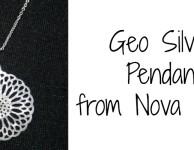Geo Silver Pendant from Nova Silver