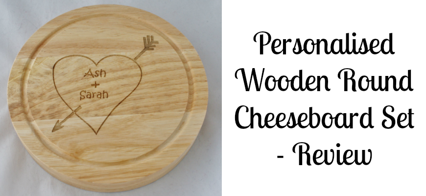 Personalised Wooden Round Cheeseboard Set