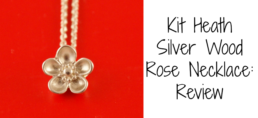 Kit Heath Silver Wood Rose Necklace