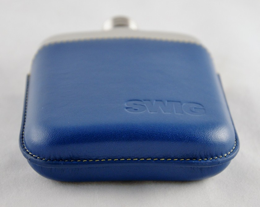 SWIG Executive Moulded Blue Flask