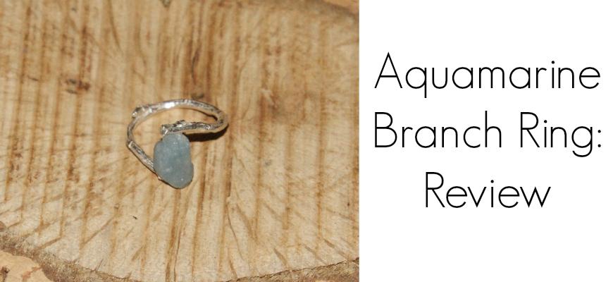 Aquamarine Branch Ring UncommonGoods