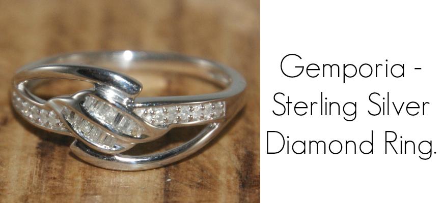 Gemporia - Sterling Silver Diamond Ring.