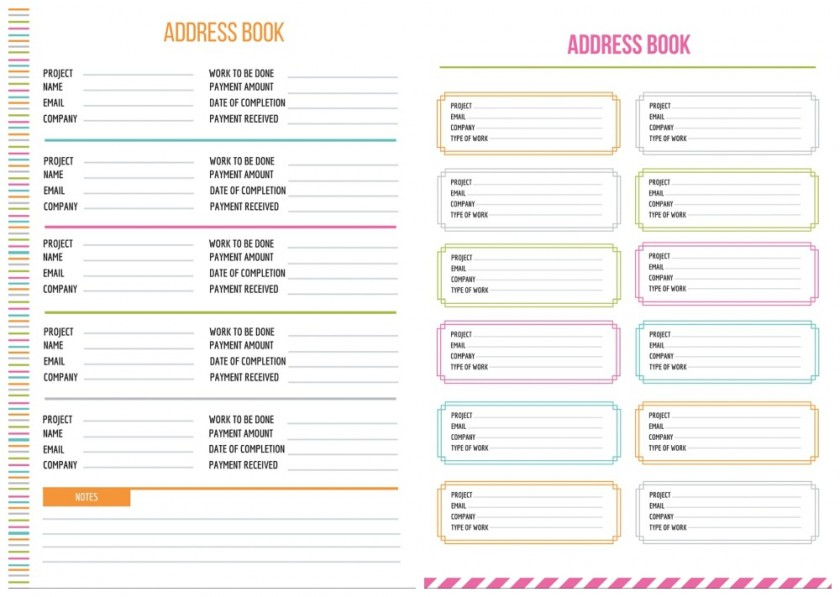 Address Book Printables