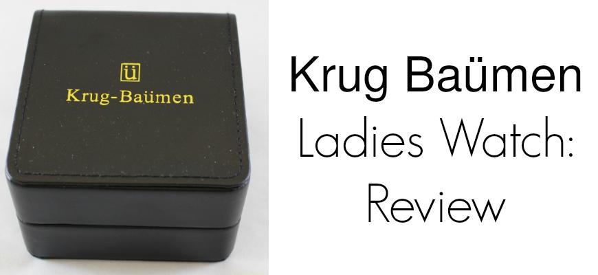 Krug Baümen Ladies Watch: Review 150573DL