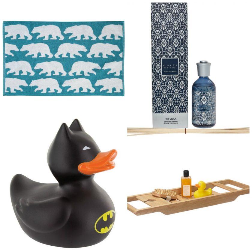 Bathroom Wishlist - Polar Bear Bathmat, Diffuser, Batman Duck and Bath Tray