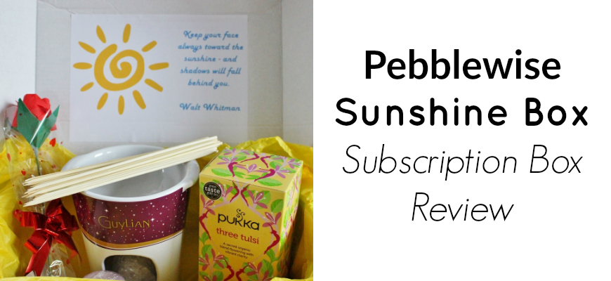 Pebblewise Sunshine Box Subscription Box Review