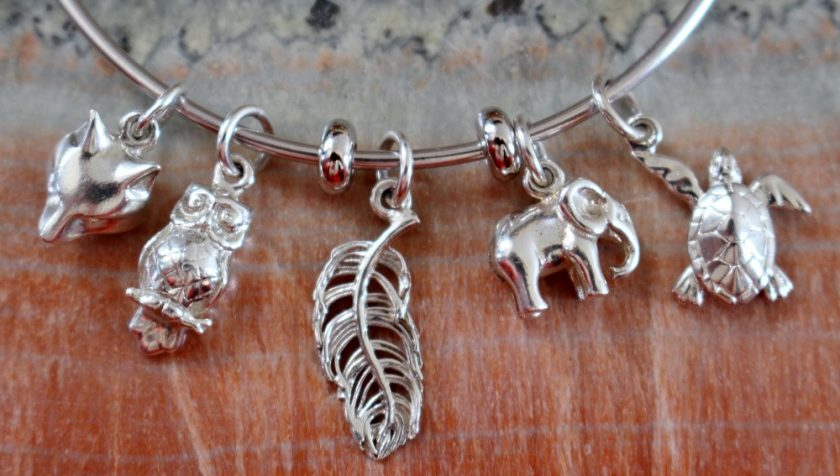 Lily Charmed Turtle Charm and Spacer Beads Bracelet