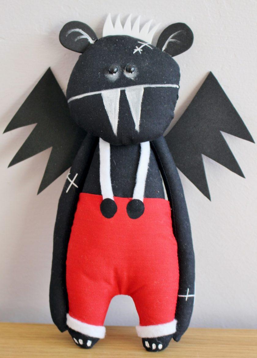 Vampire Bat Art Doll by Pins And Needles