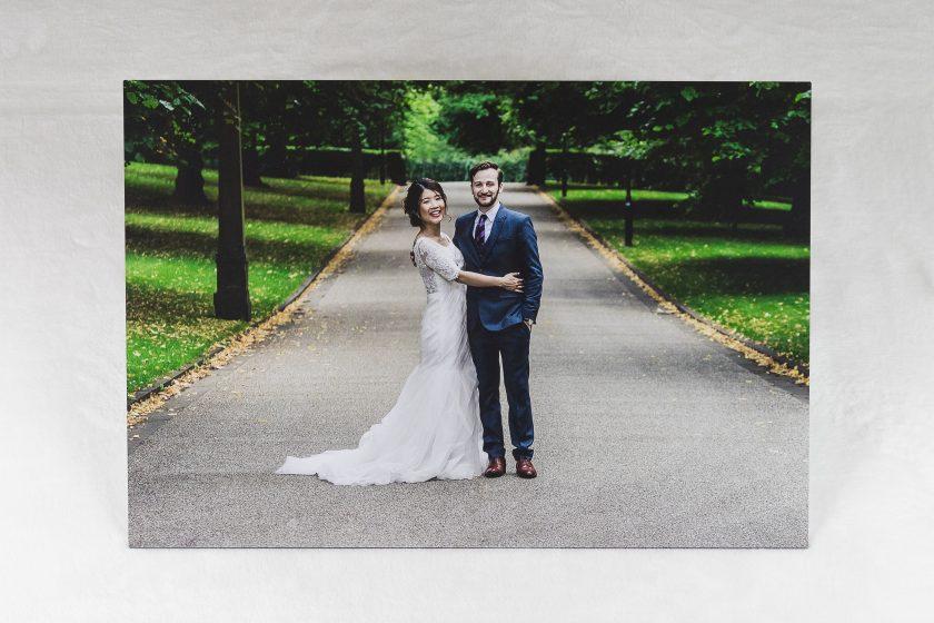Wedding Photo printed onto Aluminium