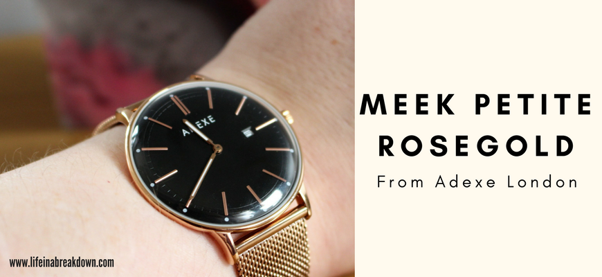 Meek - Petite Rosegold Watch from Adexe London - Photo of it on my wrist - Header Image