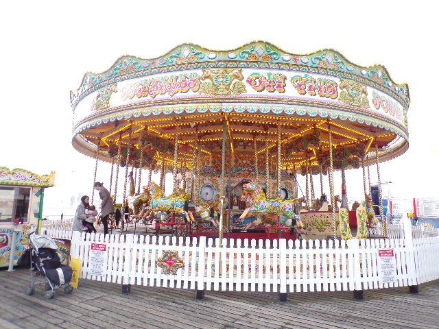 Visit Brighton Pier with Tilly and Vicky Carousel
