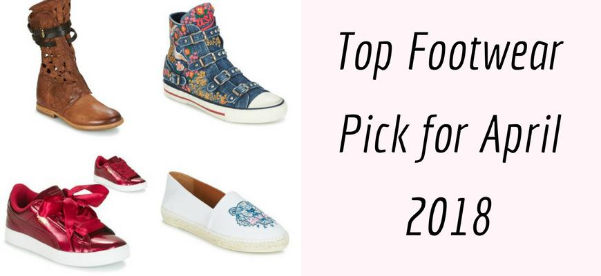Top Footwear Pick for April 2018
