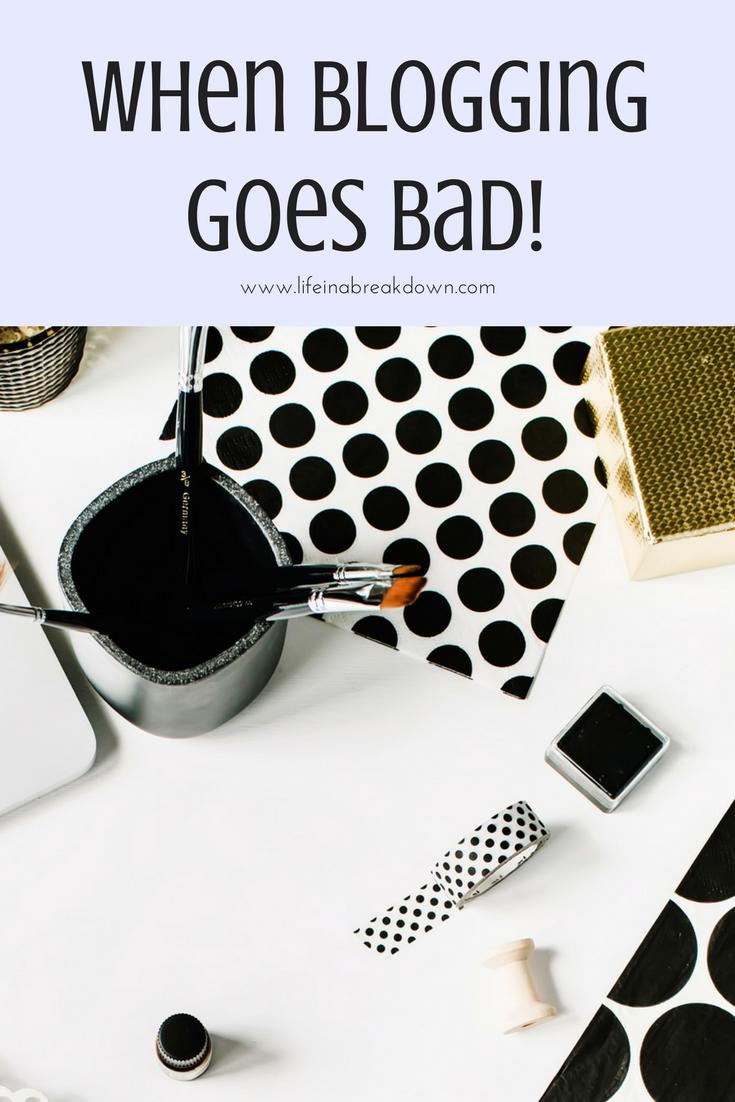When blogging goes bad